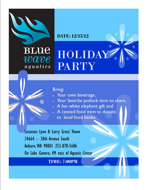 Blue Wave Aquatics 2012 Holiday Party