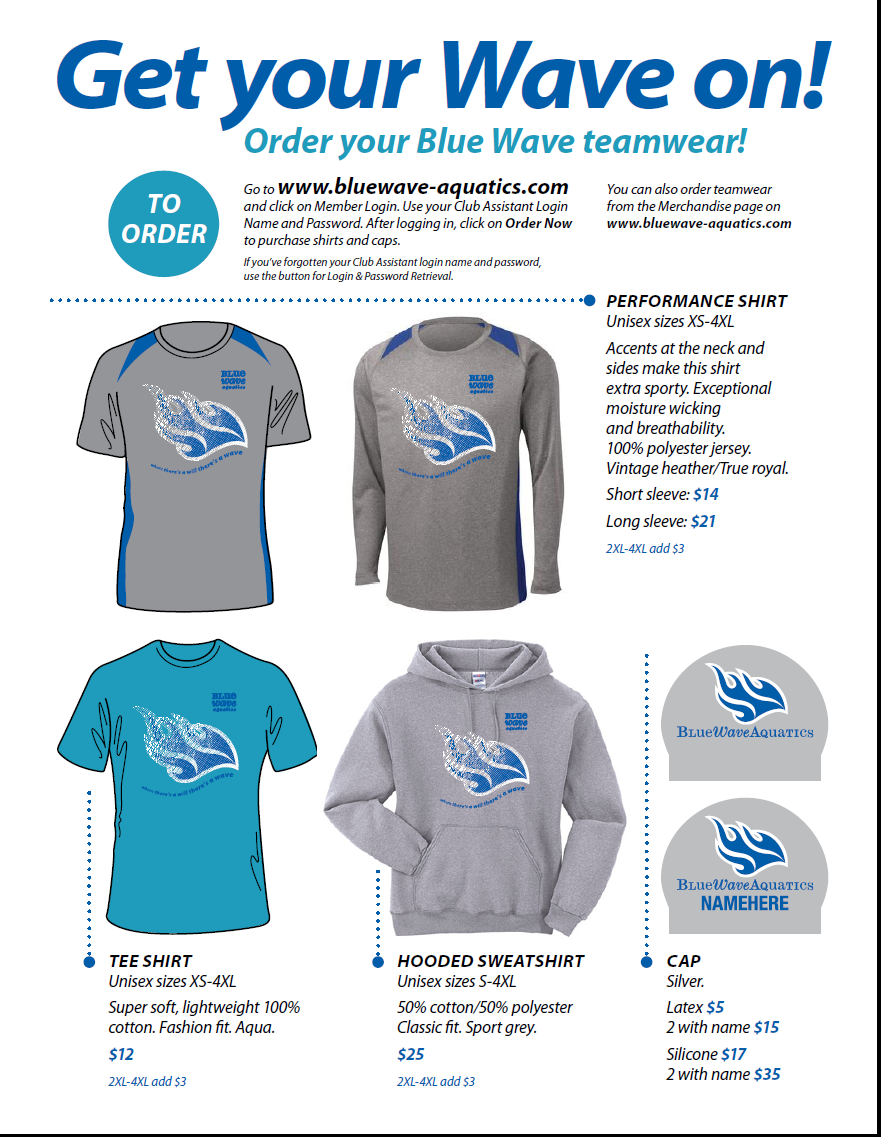 Blue Wave Aquatic team wear