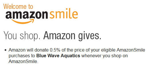 amazon smile blue wave aquatics